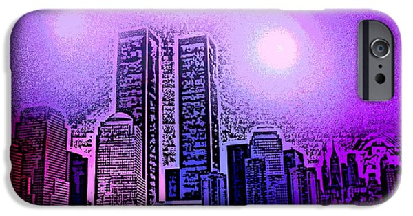 Twin Towers Nyc iPhone Cases - Forgotten Skyline iPhone Case by George Pedro