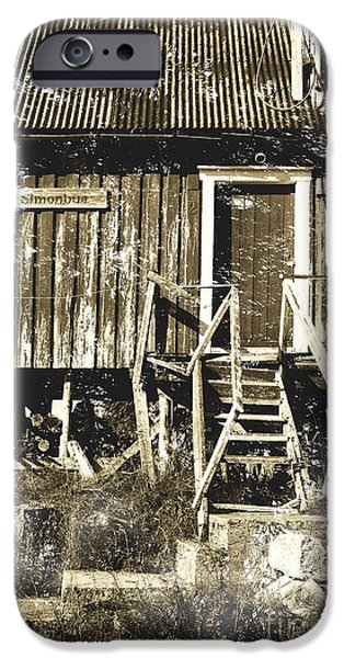 Rural Decay Digital Art iPhone Cases - Forgotten Wooden House iPhone Case by Heiko Koehrer-Wagner
