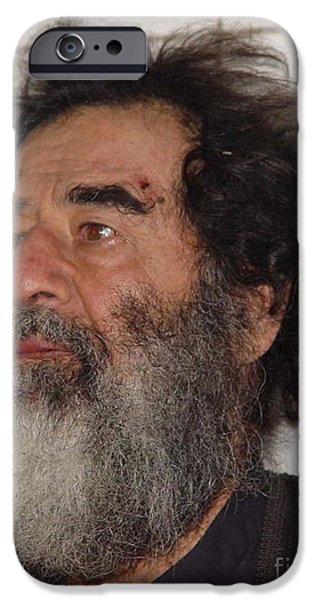 Baghdad iPhone Cases - Former Iraqi Leader Saddam Hussein iPhone Case by Stocktrek Images