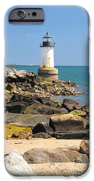 Fort Pickering Lighthouse iPhone Case by Catherine Reusch  Daley