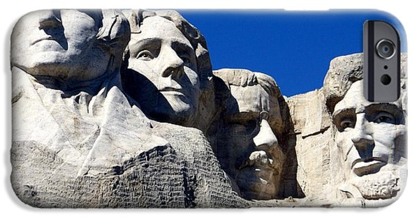 Stone Carving iPhone Cases - Fortitude in America iPhone Case by Karen Wiles