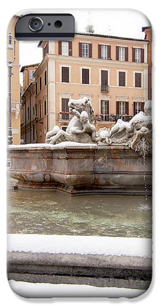 Fountain of Neptune iPhone Case by Fabrizio Troiani