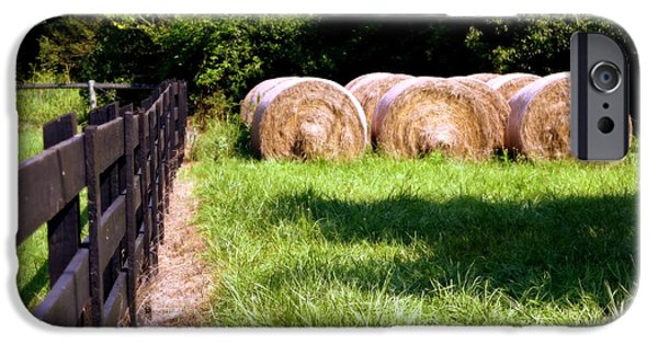 Tennessee Hay Bales iPhone Cases - Four Corners iPhone Case by Karen Wiles