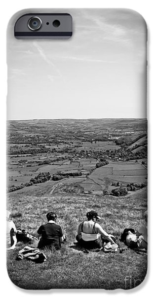 four ladies on a hill iPhone Case by Meirion Matthias