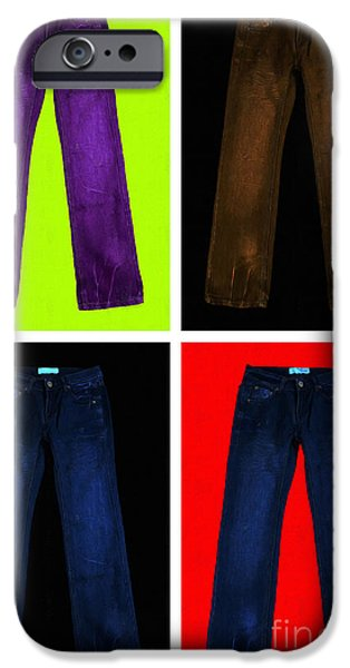 Four Pairs of Blue Jeans - Painterly iPhone Case by Wingsdomain Art and Photography