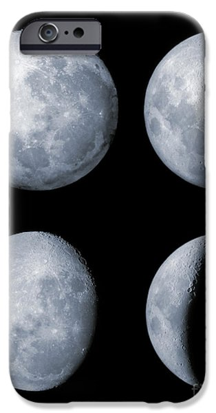 Four Phases Of The Moon iPhone Case by Rolf Geissinger