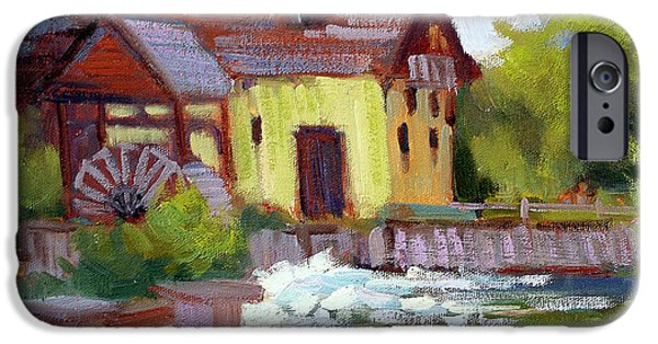 Old Mills iPhone Cases - Fourge Mill Giverny iPhone Case by Diane McClary