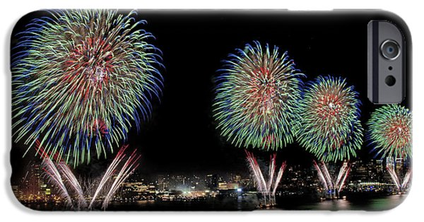Independance Day Photographs iPhone Cases - Fourt of July in NYC iPhone Case by Susan Candelario