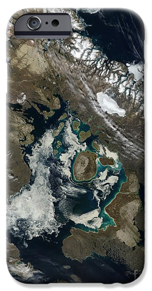 Phytoplankton iPhone Cases - Foxe Basin, Northern Canada iPhone Case by Stocktrek Images
