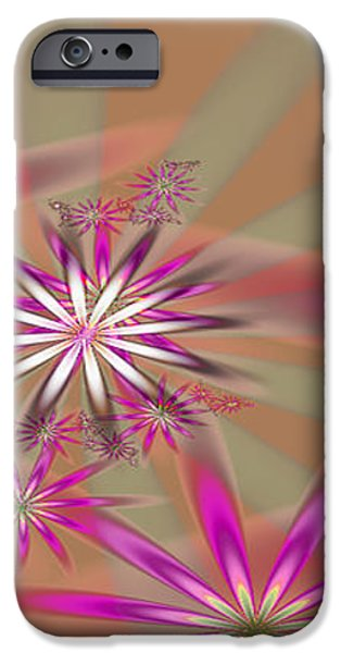Fractal Flowers iPhone Case by Gina Lee Manley