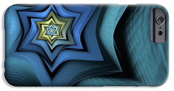 Fractal iPhone Cases - Fractal Star iPhone Case by John Edwards