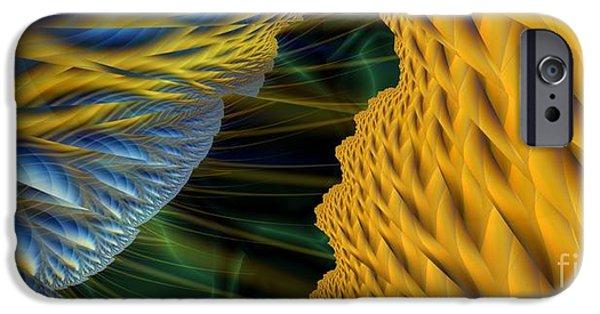 Lightning Digital Art iPhone Cases - Fractal Storm iPhone Case by Ron Bissett
