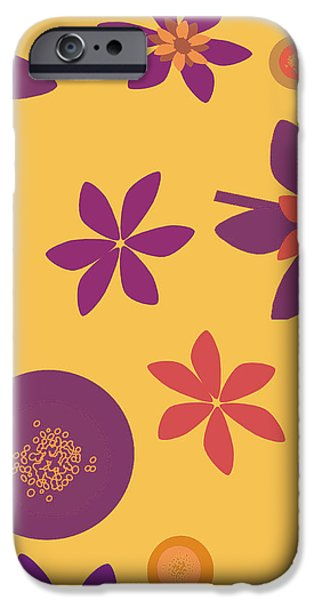 Fragrant Folly Orange iPhone Case by Ruth Palmer