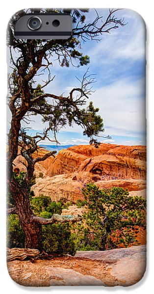 Hiking iPhone Cases - Framed Arch iPhone Case by Chad Dutson