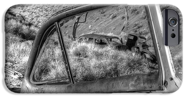 Rusted Cars iPhone Cases - Framed iPhone Case by Bob Christopher