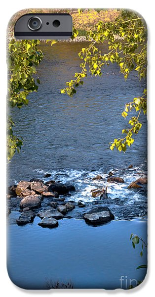 Silk Water iPhone Cases - Framed Rapids iPhone Case by Robert Bales