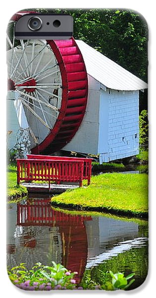 Franconia Notch Waterwheel iPhone Case by Catherine Reusch  Daley