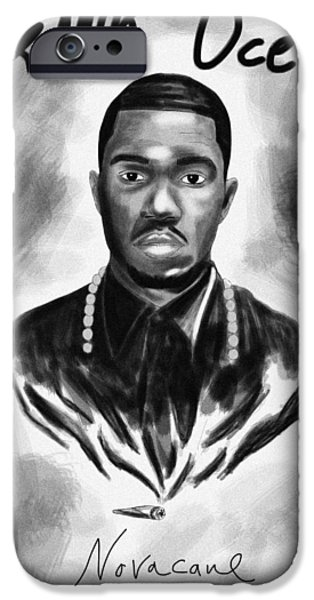 Drawing Of Frank Ocean iPhone Cases - Frank Ocean Novacane Inspired iPhone Case by Kenal Louis