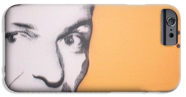 Frank Sinatra Paintings iPhone Cases - Frank Sinatra iPhone Case by Gary Hogben