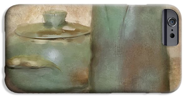 Pottery Pitcher iPhone Cases - Frankhoma Pottery iPhone Case by Betty LaRue