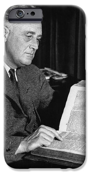 Franklin D. Roosevelt, 32nd American iPhone Case by Photo Researchers