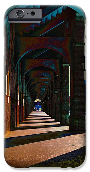 Franklin Digital Art iPhone Cases - Franklin Field Concourse Arch iPhone Case by Bill Cannon