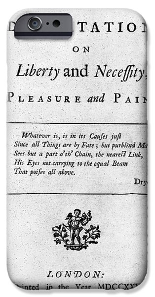 FRANKLIN: TITLE PAGE, 1725 iPhone Case by Granger