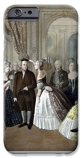 Franklin's Reception At The Court Of France iPhone Case by War Is Hell Store
