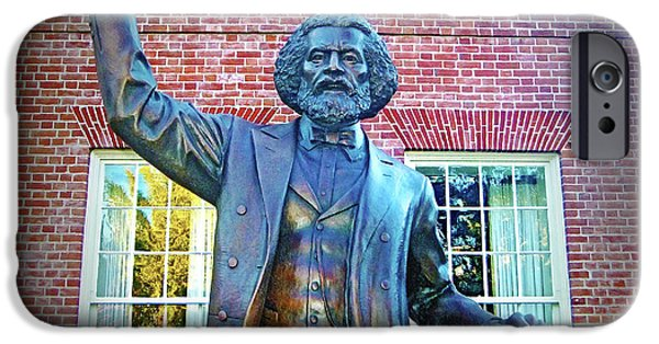 House Md Art iPhone Cases - Frederick Douglass iPhone Case by Brian Wallace