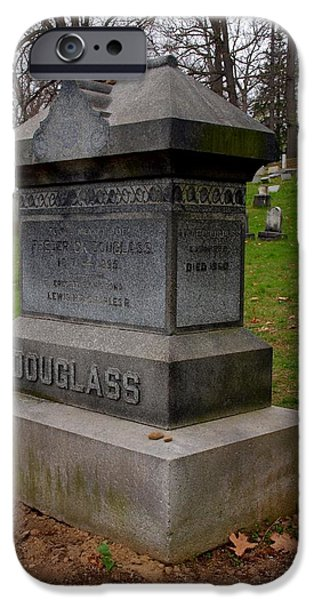 Frederick Douglass iPhone Cases - Frederick Douglass Grave Two iPhone Case by Joshua House