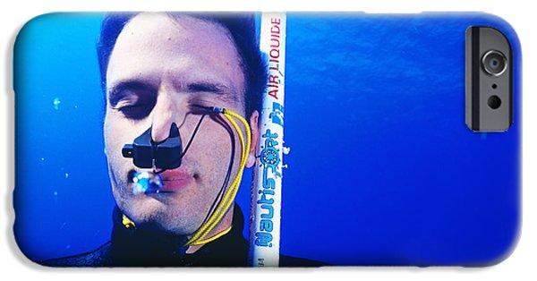 Apnea iPhone Cases - Free-diver iPhone Case by Alexis Rosenfeld