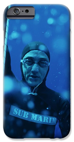 Recently Sold -  - Apnea iPhone Cases - Free-diving Competitor iPhone Case by Alexis Rosenfeld
