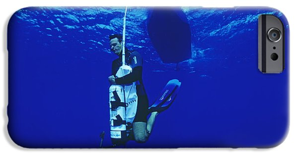 Apnea iPhone Cases - Free-diving Training iPhone Case by Alexis Rosenfeld