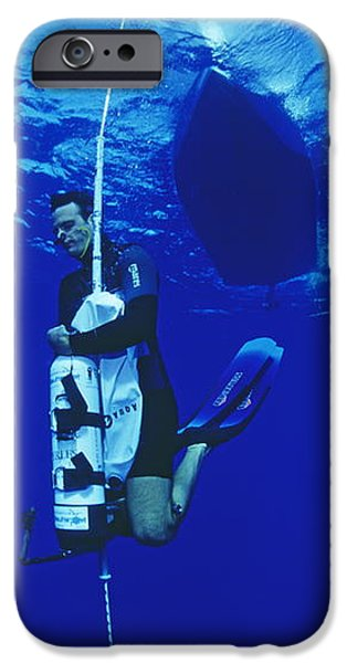Free-diving Training iPhone Case by Alexis Rosenfeld