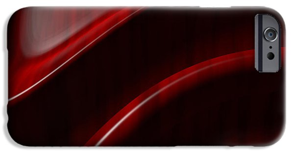 Mahogany Red iPhone Cases - Free Form  iPhone Case by Richard Rizzo