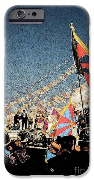 Free Tibet iPhone Case by First Star Art