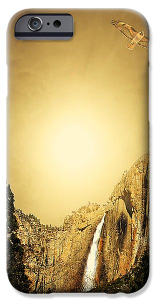 Free To Soar The Boundless Sky iPhone Case by Wingsdomain Art and Photography