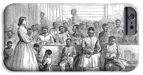 Freedmen iPhone Cases - Freedmans School, 1866 iPhone Case by Granger