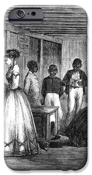 FREEDMEN SCHOOL, 1866 iPhone Case by Granger