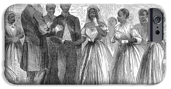 Freedmen iPhone Cases - Freedmen: Wedding, 1866 iPhone Case by Granger