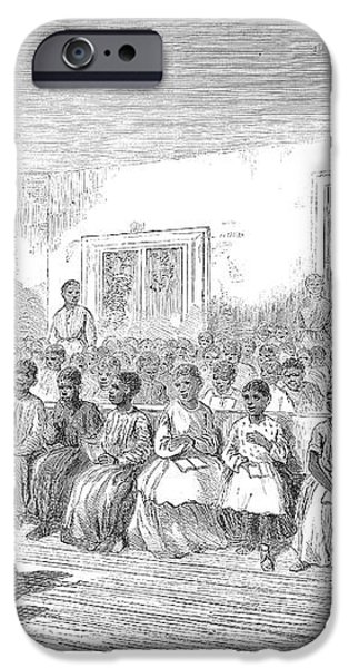 FREEDMENS SCHOOL, 1866 iPhone Case by Granger