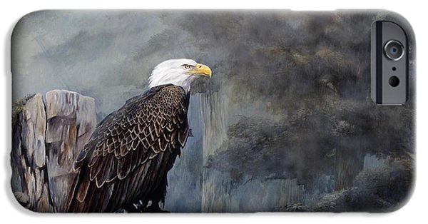 Bird Of Prey Art iPhone Cases - Freedom Haze iPhone Case by Steve Goad