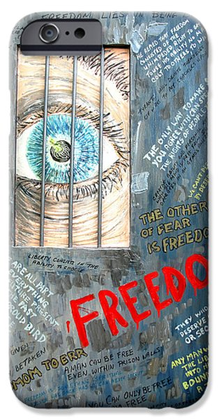 Founding Fathers Mixed Media iPhone Cases - Freedom iPhone Case by Ian  MacDonald