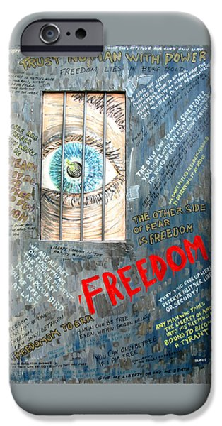 American Revolution iPhone Cases - Freedom iPhone Case by Ian  MacDonald