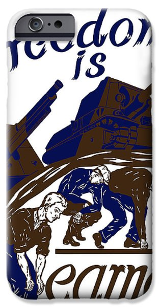 Artillery iPhone Cases - Freedom Is Earned iPhone Case by War Is Hell Store