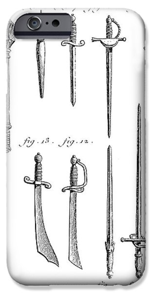 FRENCH CHIVALRIC WEAPONS iPhone Case by Granger
