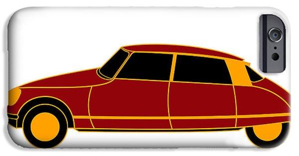 Asbjorn Lonvig Digital iPhone Cases - French Iconic Car - Virtual Car iPhone Case by Asbjorn Lonvig