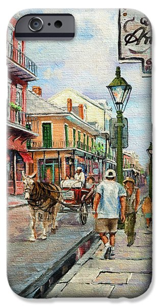 Park Scene Paintings iPhone Cases - French Quarter Antiques iPhone Case by Dianne Parks