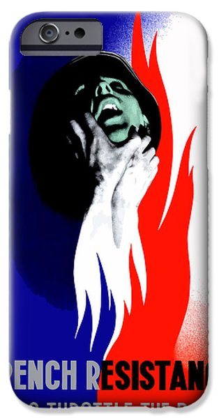 Political Mixed Media iPhone Cases - French Resistance Helps Throttle The Boche iPhone Case by War Is Hell Store