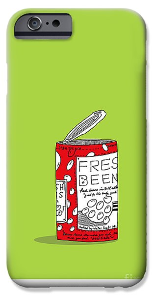 Design iPhone Cases - Fresh Beens In Red Can iPhone Case by Yagil Weiler